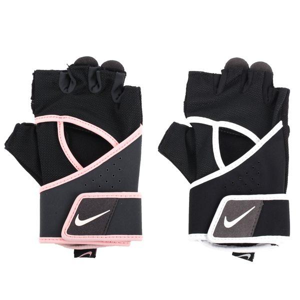 NIKE 女高階健身手套-重量訓練 半指手套 黑白 S