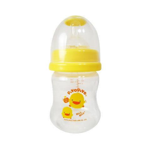 【奇買親子購物網】黃色小鴨P.P.寬口徑葫蘆奶瓶140ml