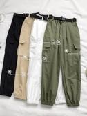 促銷九折 褲子新款女裝夏季薄款休閑褲工裝長褲束腳顯瘦高腰超火哈倫褲