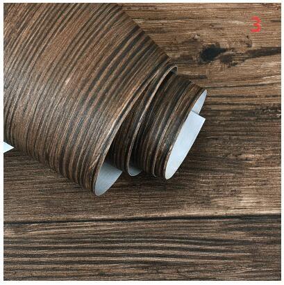 中式復古3D木紋木板條紋牆紙客廳臥室餐廳服裝店酒吧個性背景壁紙