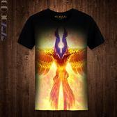 2017新品DOTA2印花T恤 電競游戲鳳凰體恤服飾 刀塔戰隊個性上衣