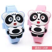兒童手錶 男孩女孩熊貓led手錶中電子表可愛玩具表禮物表