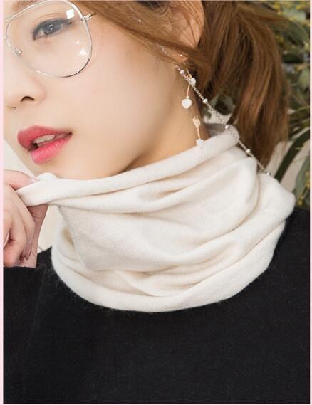 秋冬羊絨脖套男女頸椎假領加厚保暖羊毛線針織護脖子圍巾圍脖套頭