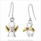 耳環 正白K飾「小天使」耳勾式 不對稱耳...