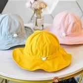 遮陽帽嬰兒帽子漁夫帽女童薄款寶寶男童太陽帽兒童帽【淘夢屋】
