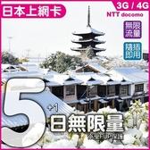 【旅日必備】日本5天無限量上網卡(新品上市加贈一天)