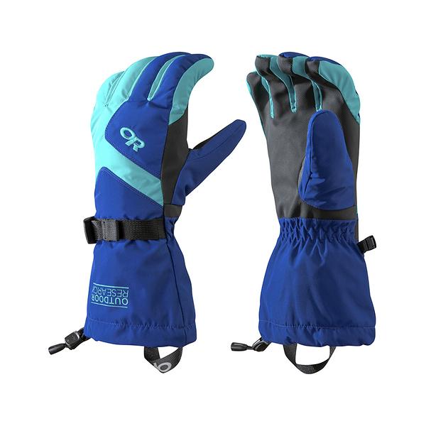 OR W'S ADRENALINE GLOVES 女款防水防風透氣保暖手套 藍/綠