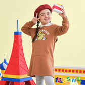 布丁狗圖案連帽厚棉T恤焦糖色-bossini女童