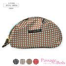 化妝包-日本品牌包PassageBois-防水超輕量水餃收納包-棕底圓點款-玄衣美舖