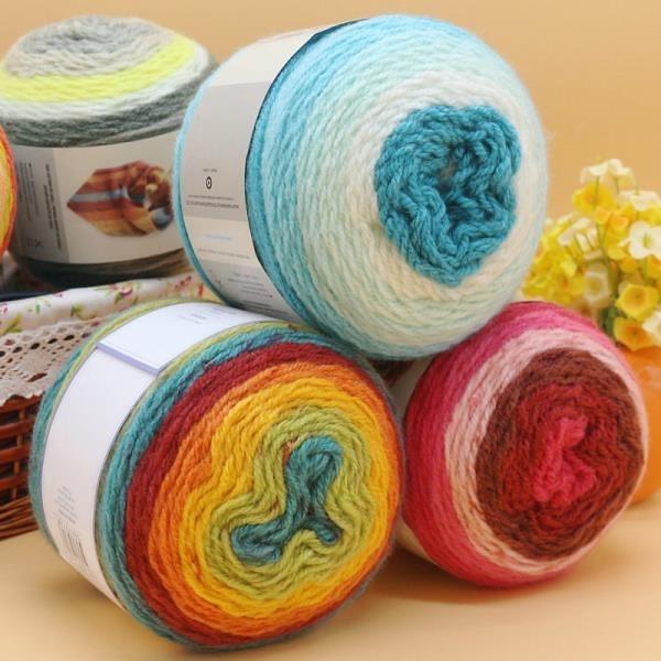 西班牙圍巾線 LANAS STOP cake ball 中粗棒針手編圍巾線外套毛線