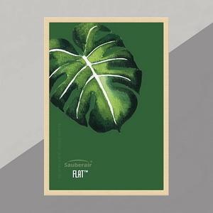 FLAT畫框原木色框一片綠葉(需搭FLAT清淨機)