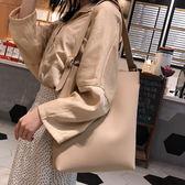 水桶包 單肩大包包女2019新款潮韓版百搭大容量簡約時尚手提包子母托特包