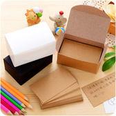 【滿499折100】WaBao 復古盒裝空白DIY塗鴉小卡片 便條紙 留言紙 卡紙 =D0C014=