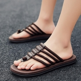 拖鞋男夏時尚外穿人字拖防滑室外夾腳涼拖潮人韓版個性休閒沙灘鞋『潮流世家』
