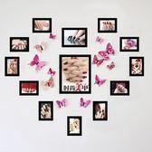 美甲店裝飾背景墻 美甲照片墻相框墻紋繡美睫美甲圖片心形送蝴蝶