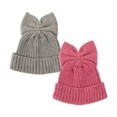 日本 stample 蝴蝶結針織毛帽 M/L (2色)