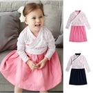 洋裝 中國風 假兩件 復古造型連衣裙 長板上衣 女童82031