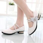 軟底女童皮鞋春秋公主鞋白色兒童