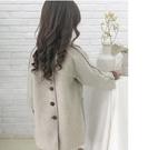 女童外套 女童春新款韓版洋氣兒童潮女孩毛呢外套裝雙面呢子大衣【快速出貨八折鉅惠】