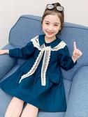女童裙子2020秋季新款兒童長袖連身裙童裝女孩純棉公主裙秋裝洋氣 童趣屋
