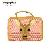 【虎兒寶】coqenpate 法國有機棉無毒環保布包-方方兒拎出門 - 鹿