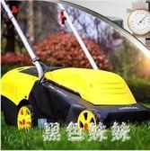 220v手推式草坪機剪草機家用小型除草機草坪修剪機 電動割草機 js7721『黑色妹妹』