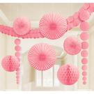 天花板裝飾組9入-甜心粉...