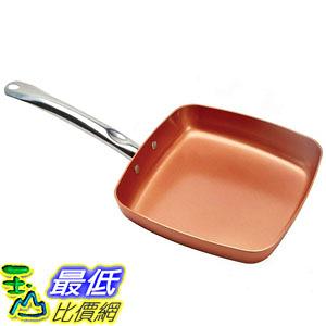[8美國直購] 不沾鍋 Copper Chef 9.5吋 Square Fry Pan B01G8Z1KN6
