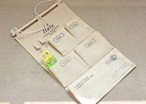 壁掛袋 多層收納袋 置物袋 信差袋  33*58【ZA0805】 icoca  09/14