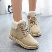 低筒雪靴-時尚簡約保暖百搭女平底靴子4色73kg36【巴黎精品】