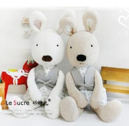 娃娃屋樂園~Le Sucre法國兔砂糖兔(碎花背心款)30cm250元另有45cm60cm90cm120cm