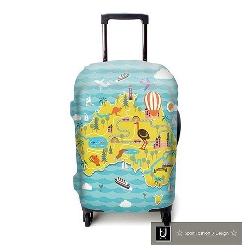 【US.STYLE】歡樂澳洲18吋旅行箱防塵防摔保護套(18-22吋適用)