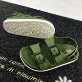 萬聖節狂歡   夏季男童鞋英倫1-4歲寶寶童涼鞋兒童防滑涼鞋2018小童塑料沙灘鞋   mandyc衣間