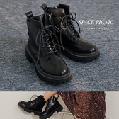 靴子 Space Picnic|厚底馬丁高筒短靴(預購)【C20092013】
