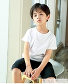 男童短袖t恤純棉兒童純色童裝白色上衣半袖小男孩衣服夏季打底衫 夏季新品