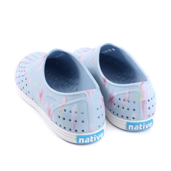 native JERICHO PRINT 洞洞鞋 休閒鞋 淺藍色 花卉 女鞋 11300401-8811 no919