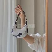 鹿子 小眾設計迷你奶牛紋月牙包2020新款腋下包手提單肩斜挎小包 小明同學