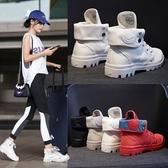 馬丁靴女新款夏季短靴英倫風平底學生復古正韓百搭女靴子【免運】