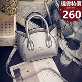 斜背包 新款時尚微笑貓側背/手提包 598540 笑容-寶來小舖Bolai-現貨販售