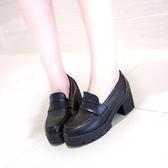 lolita鞋日系動漫女仆萬用lolita制服鞋JK學院風女中學生小皮鞋黑色工作鞋 衣間迷你屋