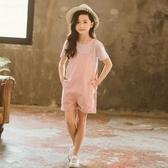 女童夏季吊帶褲套裝兒童裝2020新款洋氣時髦夏裝中大童小女孩短褲 童趣