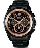 WIRED 鋼鐵假面計時手錶(7T11-0BD0SD)-玫瑰金/IP黑