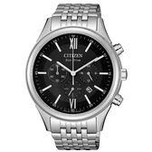 CITIZEN 超質感三眼計時光動能腕錶/CA4410-84E