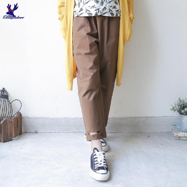 【三折特賣】American Bluedeer - 造型褲口長褲(特價) 秋冬新款