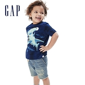 Gap男幼童 純棉萌趣圖案短袖T恤 681427-海軍藍