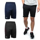 KAPPA 男針織短褲(吸濕排汗 抗UV 五分褲 慢跑 路跑 免運 ≡排汗專家≡