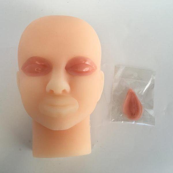 雙眼皮手術訓練假皮 眼科美容手術訓練模型 雙眼皮縫合練習頭模