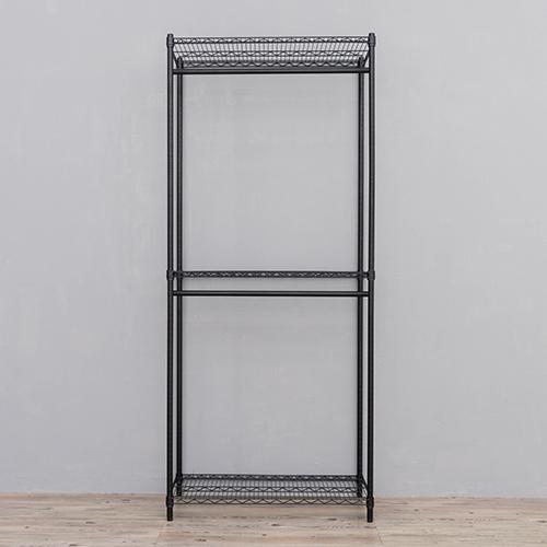 收納架/置物架/衣架 荷重加強型 90X45X210cm 重型三層雙桿烤漆衣櫥架  dayneeds