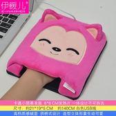 USB暖手滑鼠墊 發熱保暖滑鼠墊卡通電暖寶寶加熱冬季【onecity】