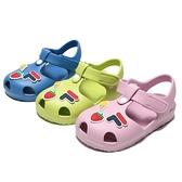 FILA 童鞋 涼鞋 三色 防水 輕量 護趾 膠鞋 (布魯克林) 7S454V-